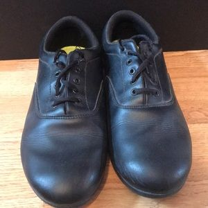Black marching shoes